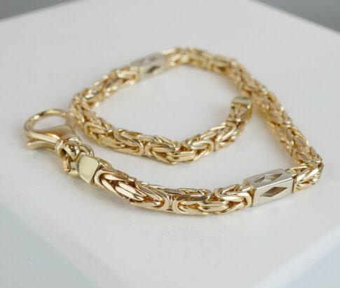 Gouden bicolor koningsarmband