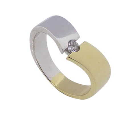 Bicolor diamanten ring Atelier Christian