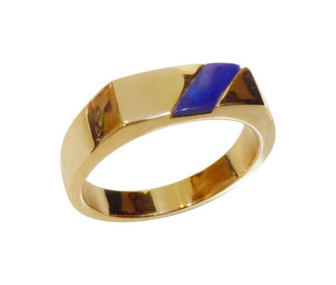 Gouden ring met lapis lazuli