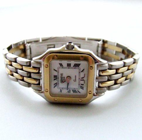Gouden Genève dames horloge