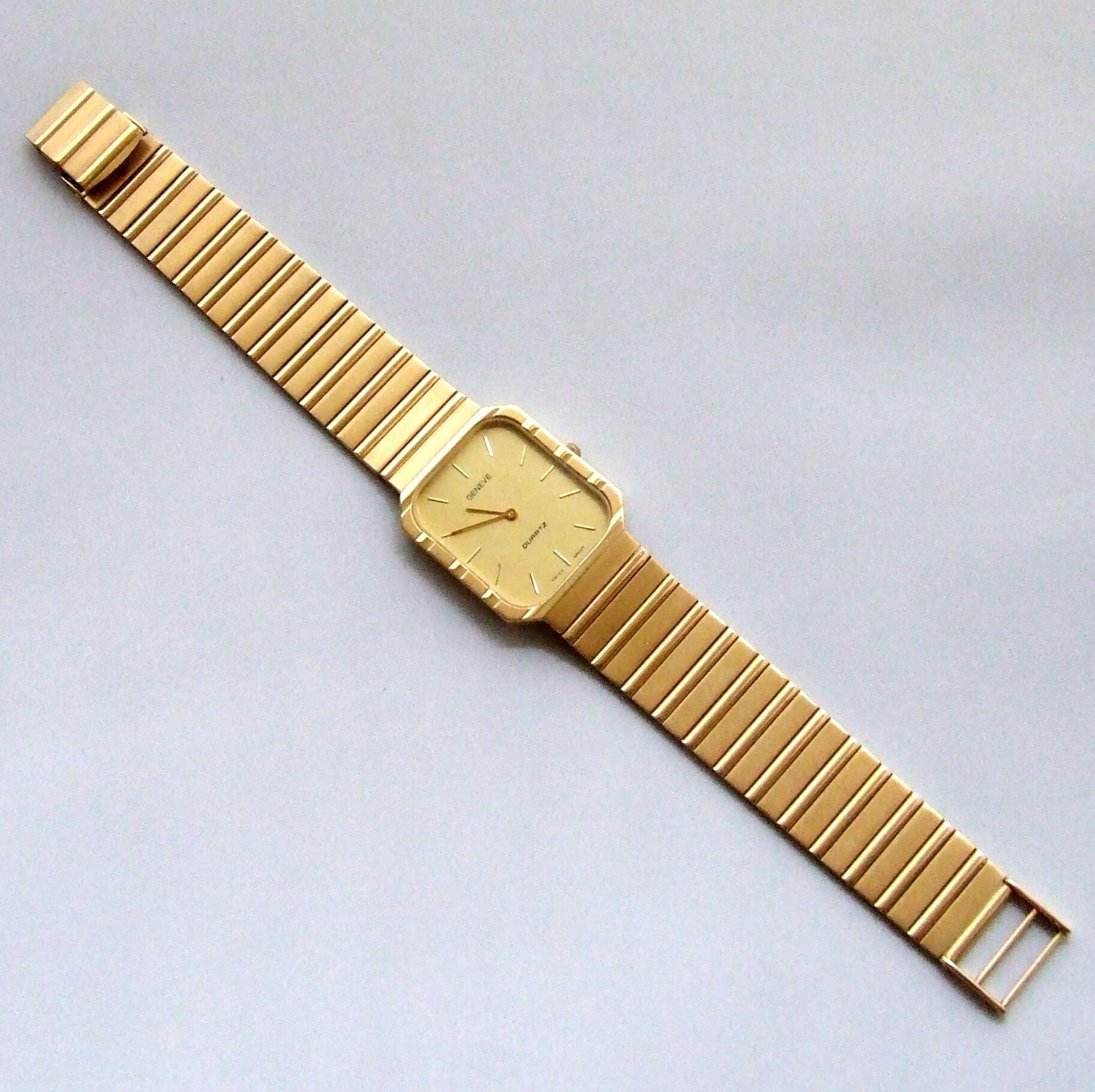 Gouden Genève heren horloge