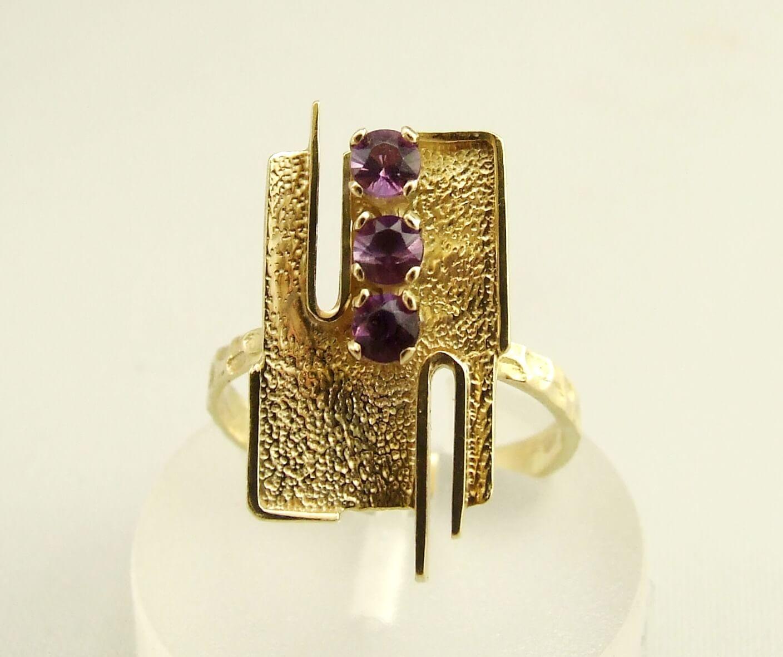 Occasion gouden ring met amethyst