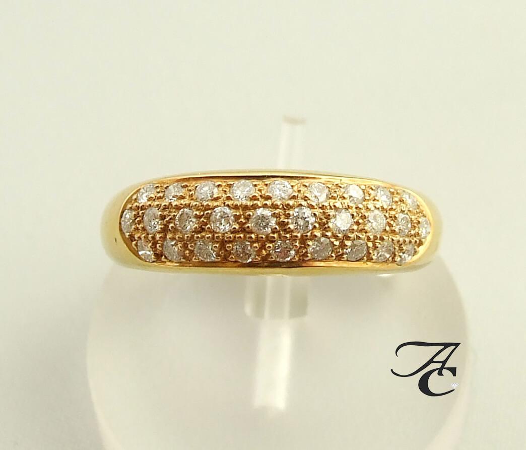 Geel gouden ring met briljanten