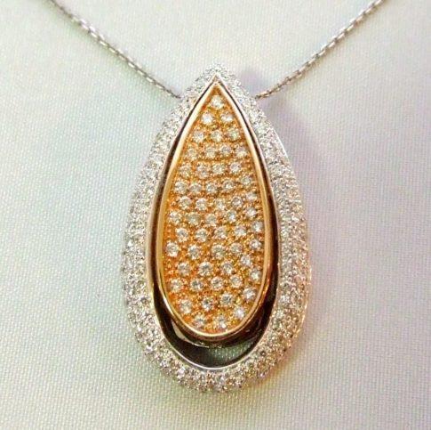 18 karaat bicolor hanger met diamanten