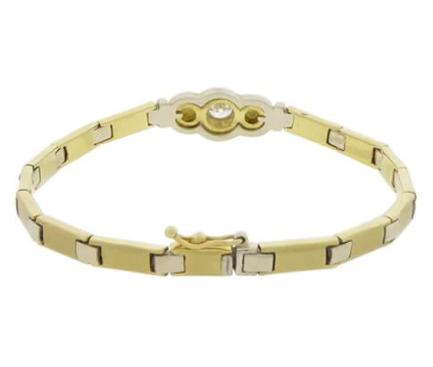 Bicolor Christian armband met zirkonia