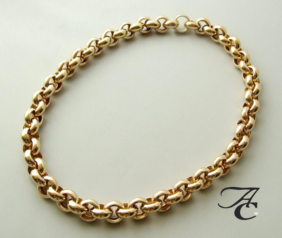 Gouden jasseron collier