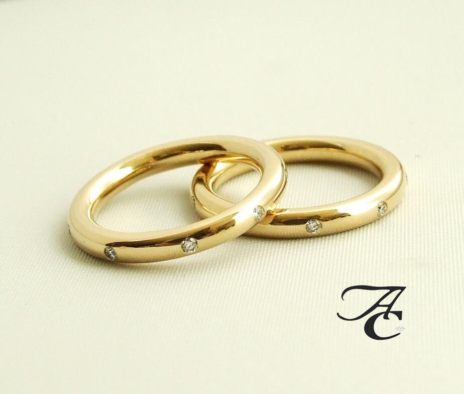 Atelier Christian gouden trouwringen met diamant