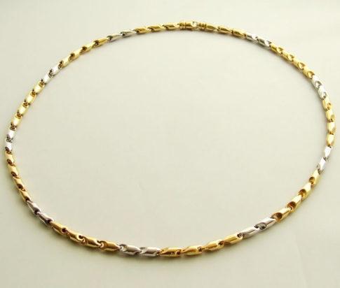 Bicolor gouden Christian collier