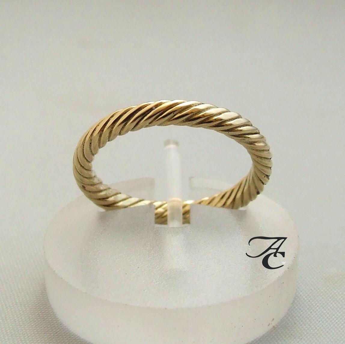 Atelier Christian geel gouden ring