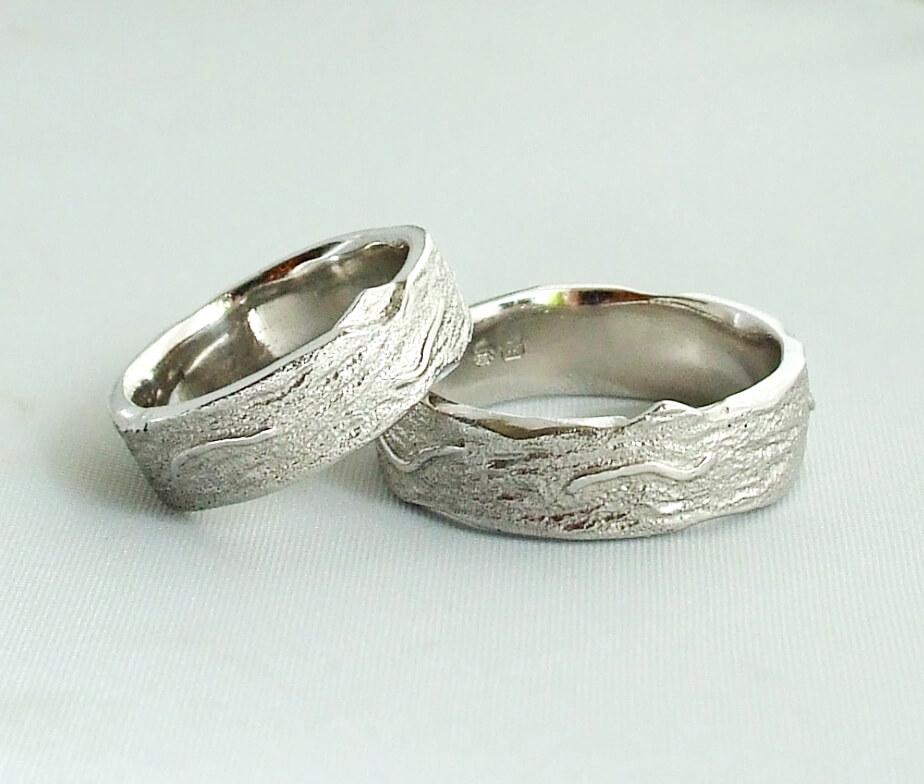 Christian wit gouden passende trouwringen