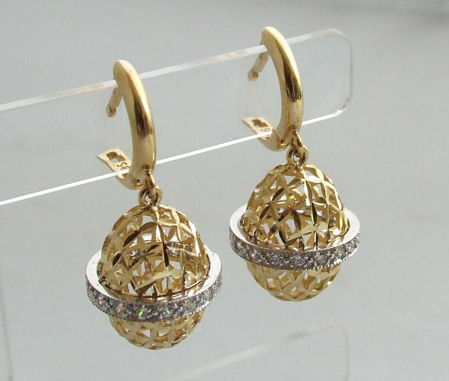 Christian gouden oorbellen met zirkonia
