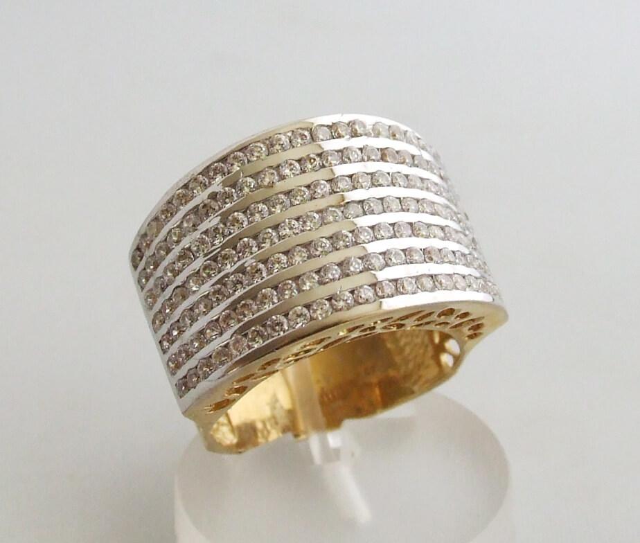 Gouden Christian ring met zirkonia