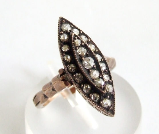 Occasion gouden ring met roosdiamant