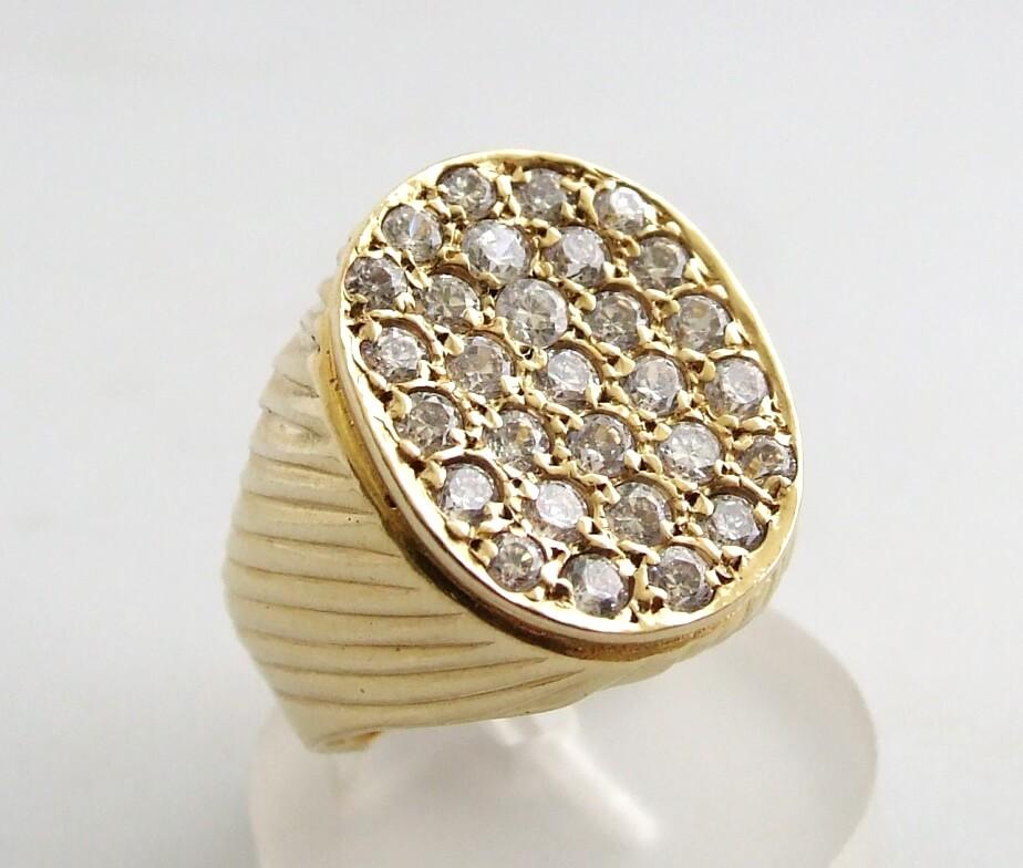 Christian zirkonia gouden ring