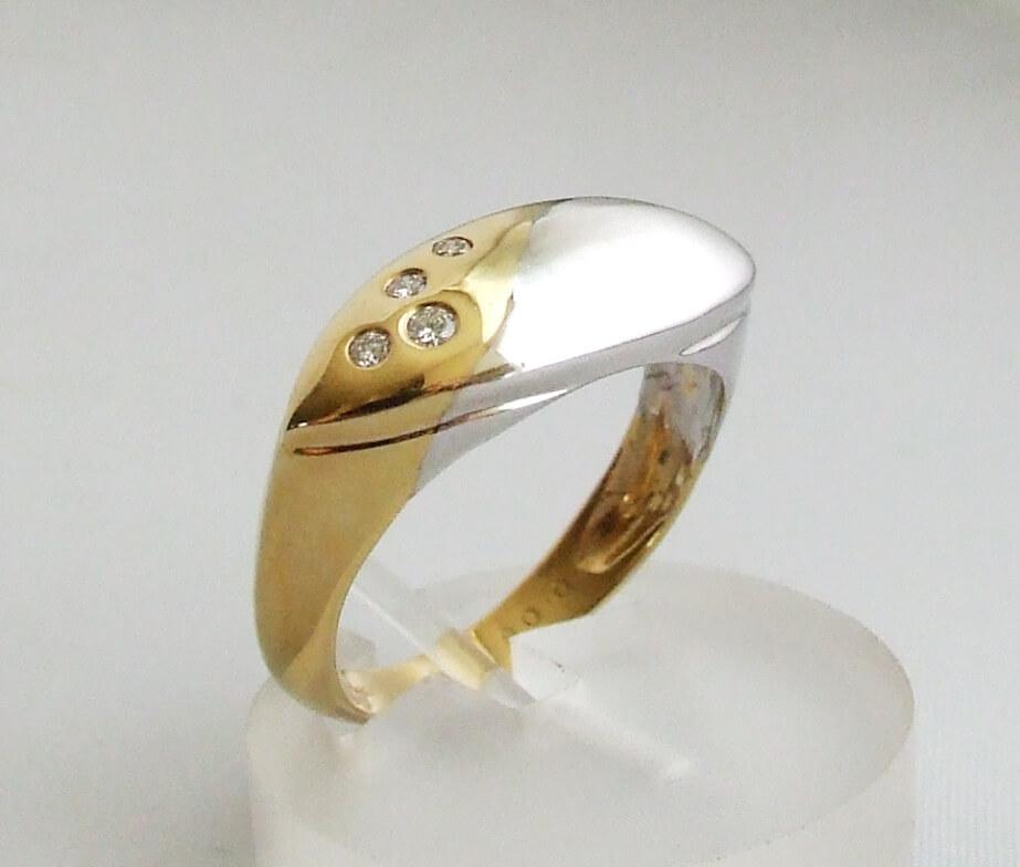 Christian geel- en wit gouden ring met diamant