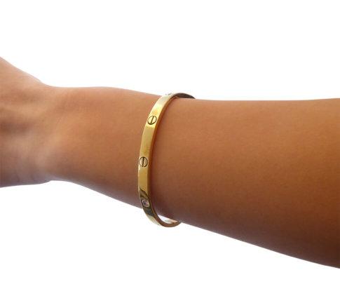 Geel gouden armband met briljanten