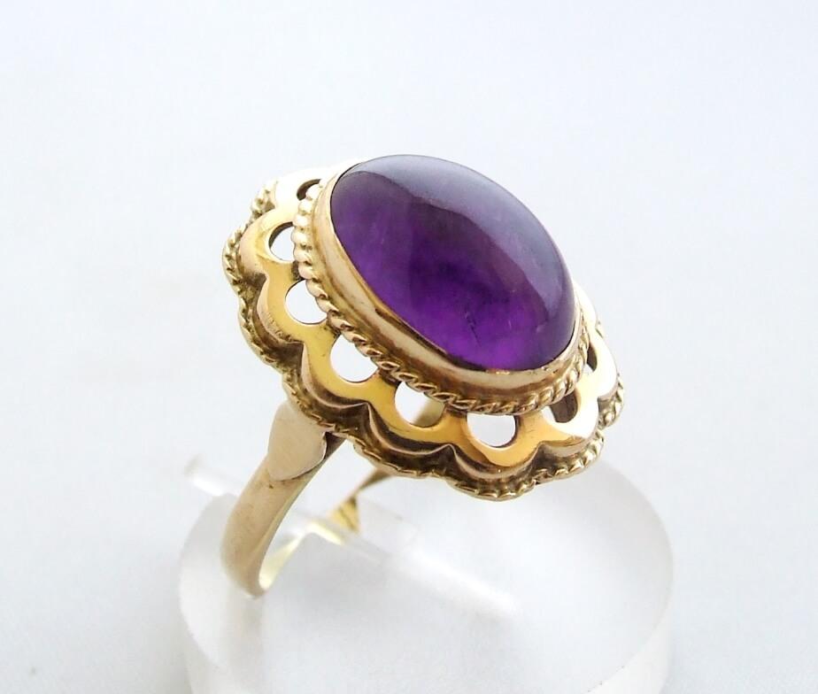 Gouden occasion ring met amethyst