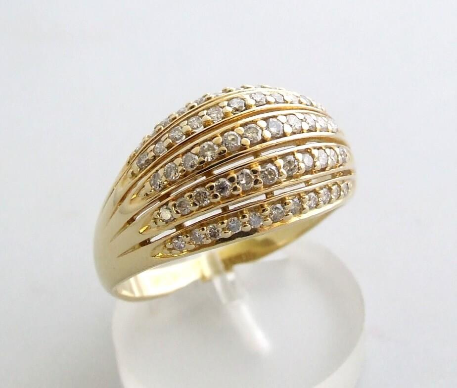Gouden occasion ring met diamant
