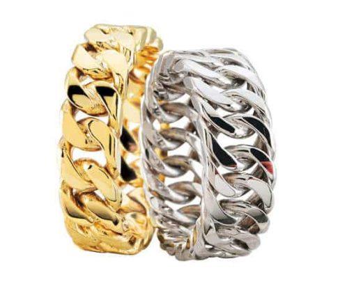 Geel- en wit gouden gourmet trouwringen