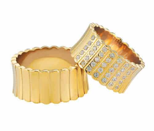 Gouden trouwringen fantasie model