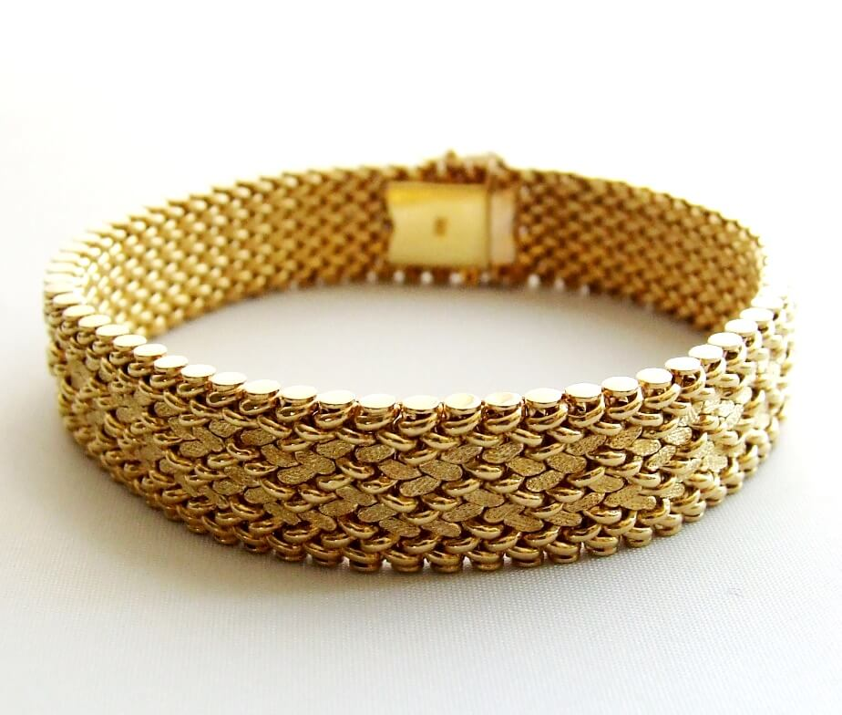 Vintage geel gouden armband