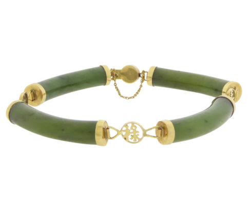 Gouden armband met jade