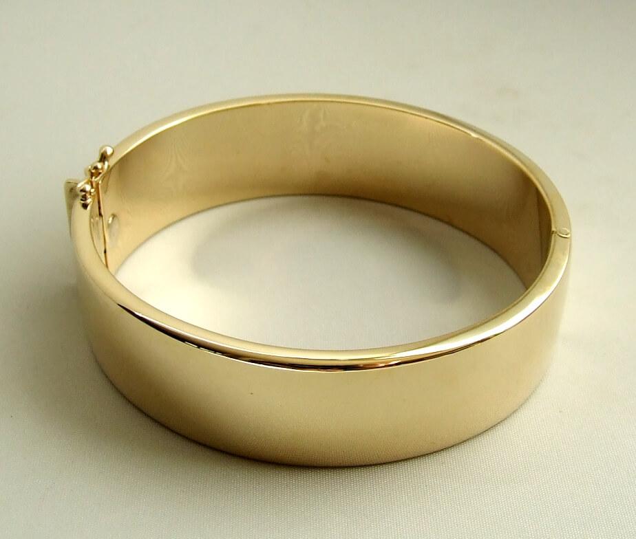 14 karaat geel gouden slavenarmband Christian