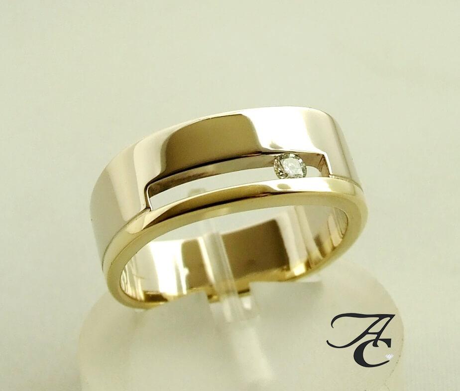 Atelier Christian gouden ring met briljant