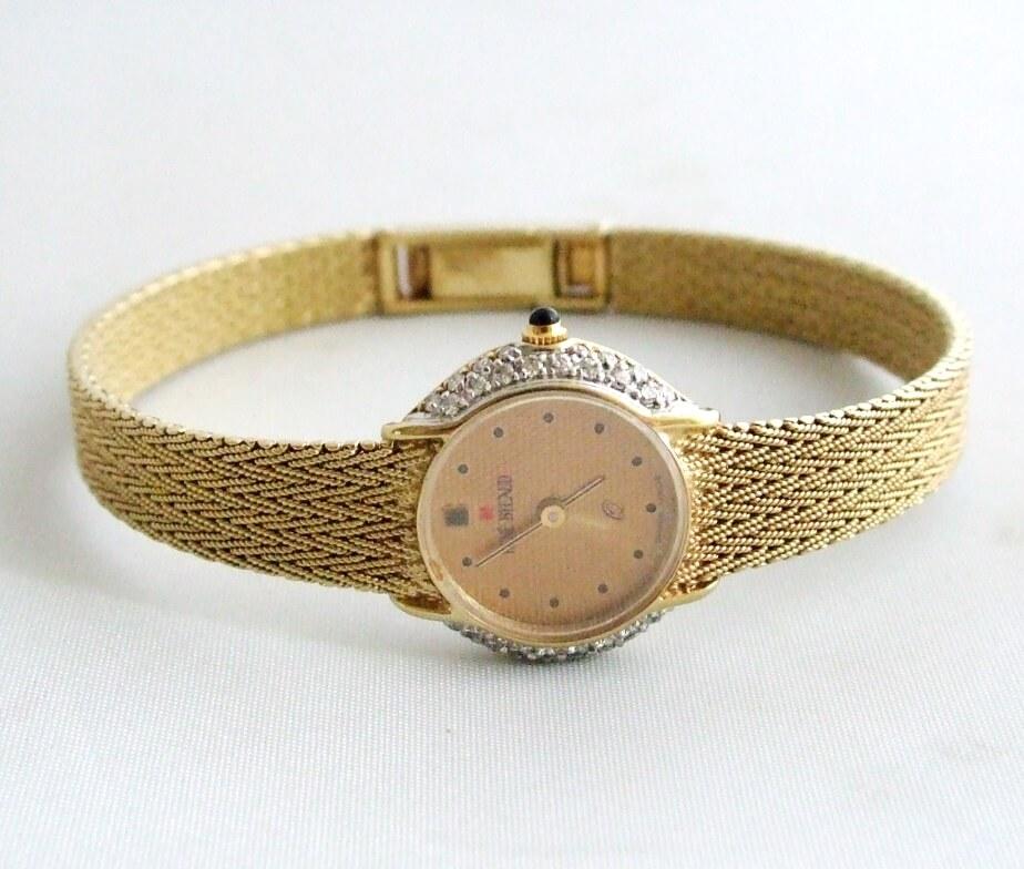 Geel gouden diamanten horloge