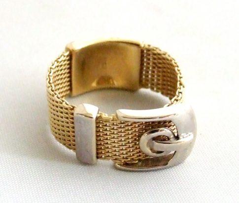 Gouden gesp ring