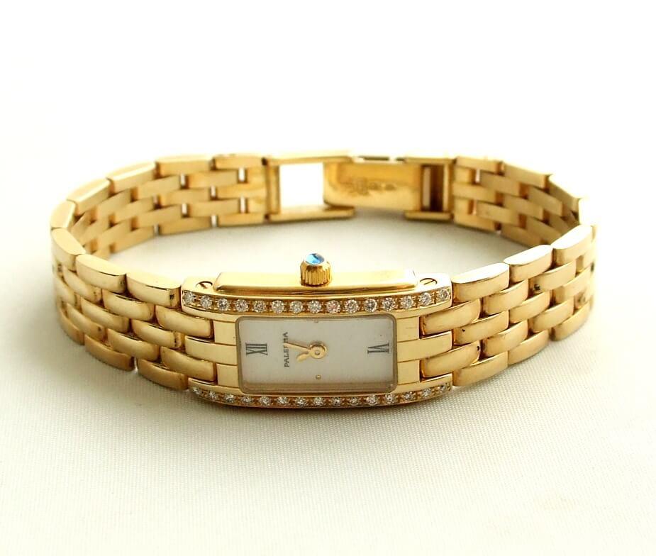 Gouden horloge met briljanten