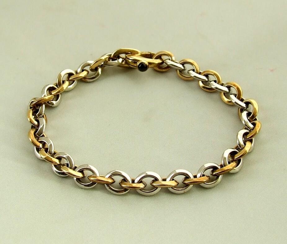 Gouden Christian bicolor armband