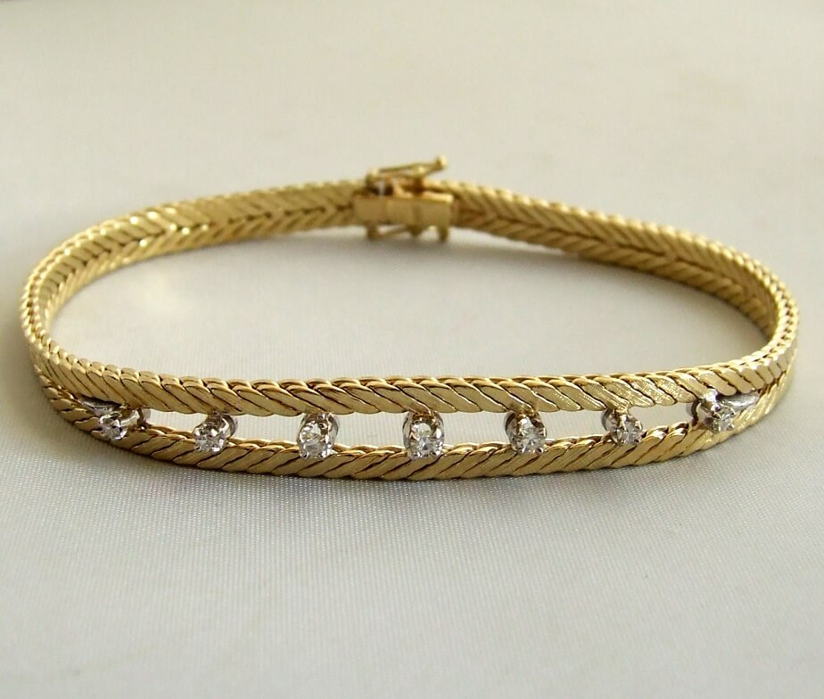 Gouden armband met briljanten