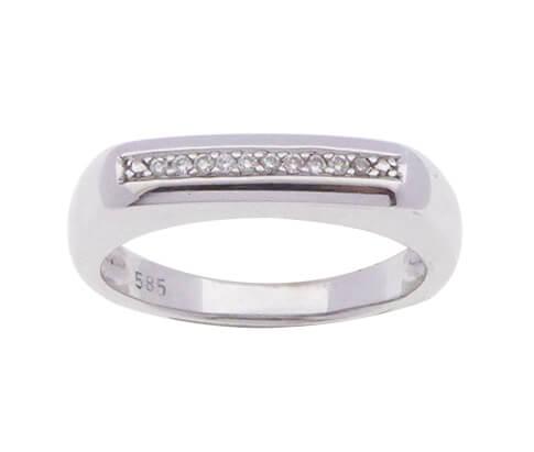 Wit gouden occasion ring met diamanten