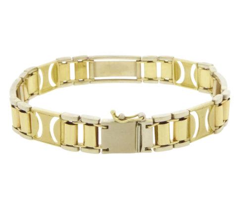 Christian gouden bicolor schakelarmband