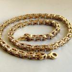 Geel- en wit gouden koningsketting