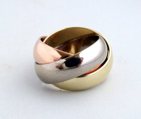 Christian tricolor ring