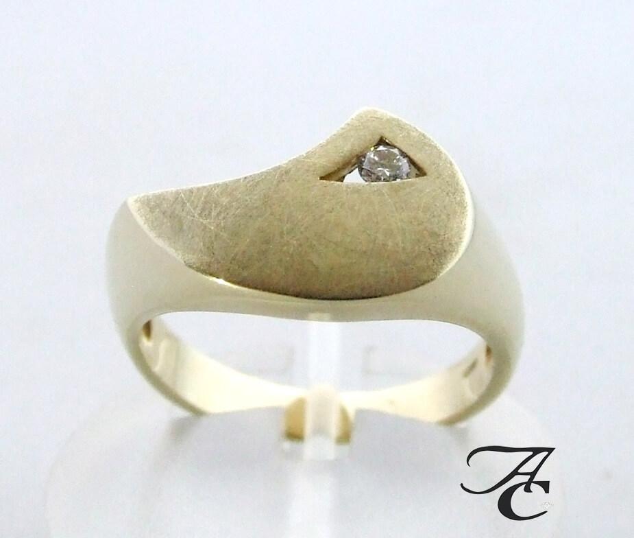 Geel gouden diamanten Atelier Christian ring