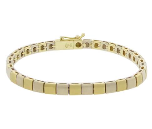 Gouden bicolor Christian schakelarmband