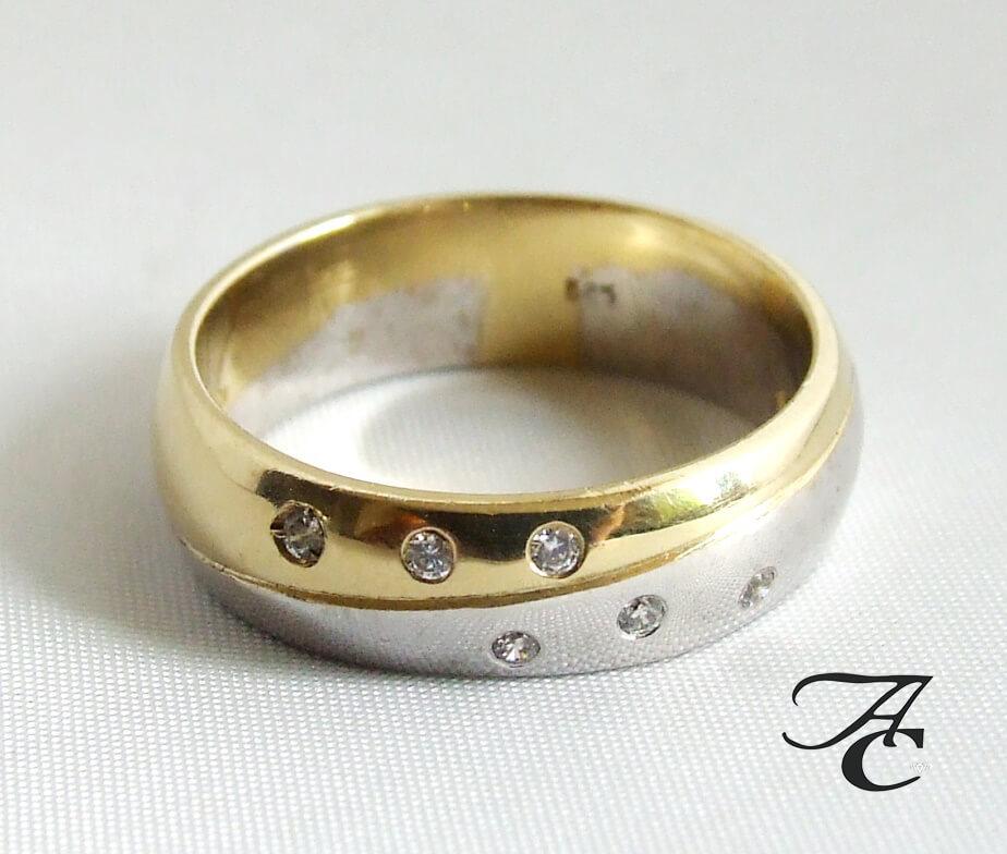Bicolor Atelier Christian ring met briljanten