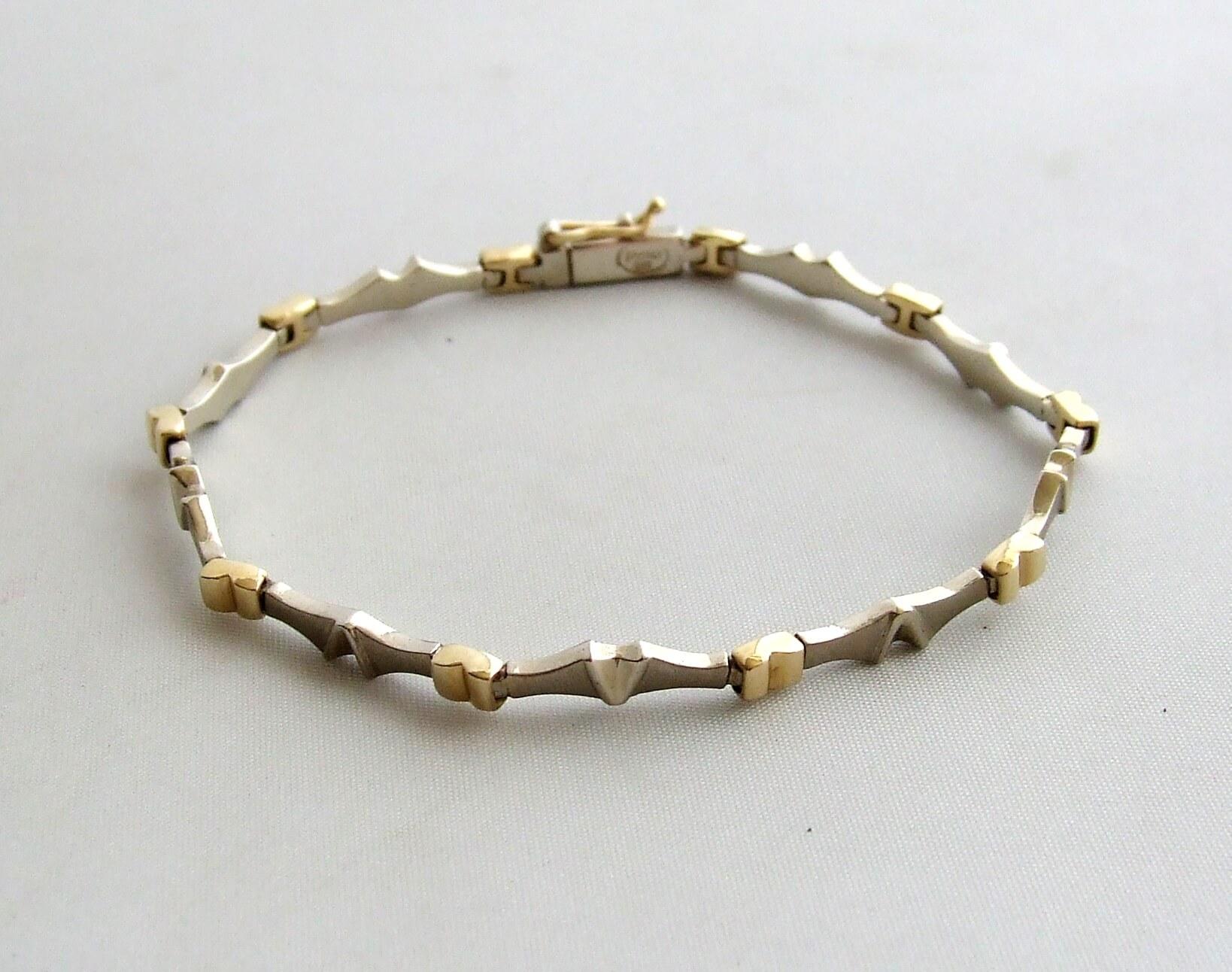 Geel gouden fantasie armband
