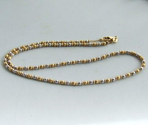 Occasion bicolor gouden collier