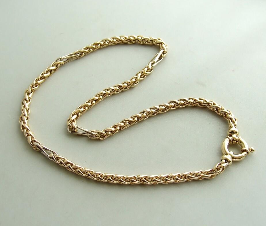 Geel gouden Christian collier