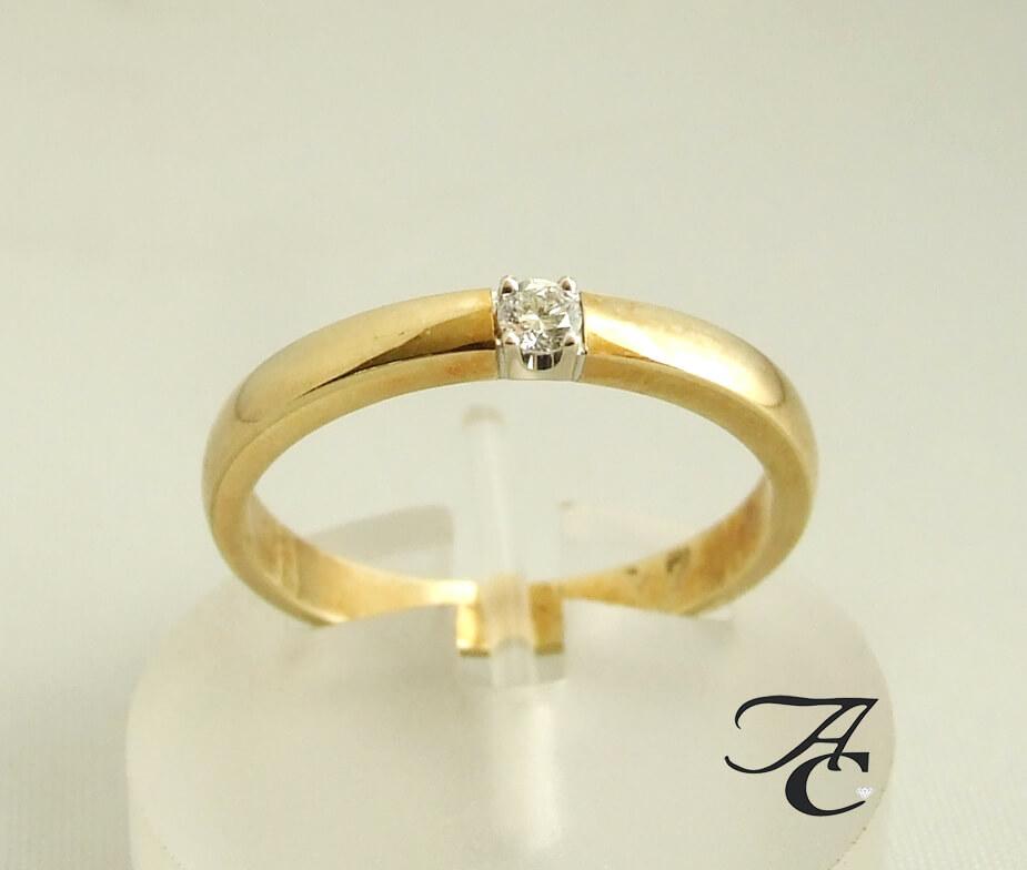 Atelier Christian gouden ring met diamant
