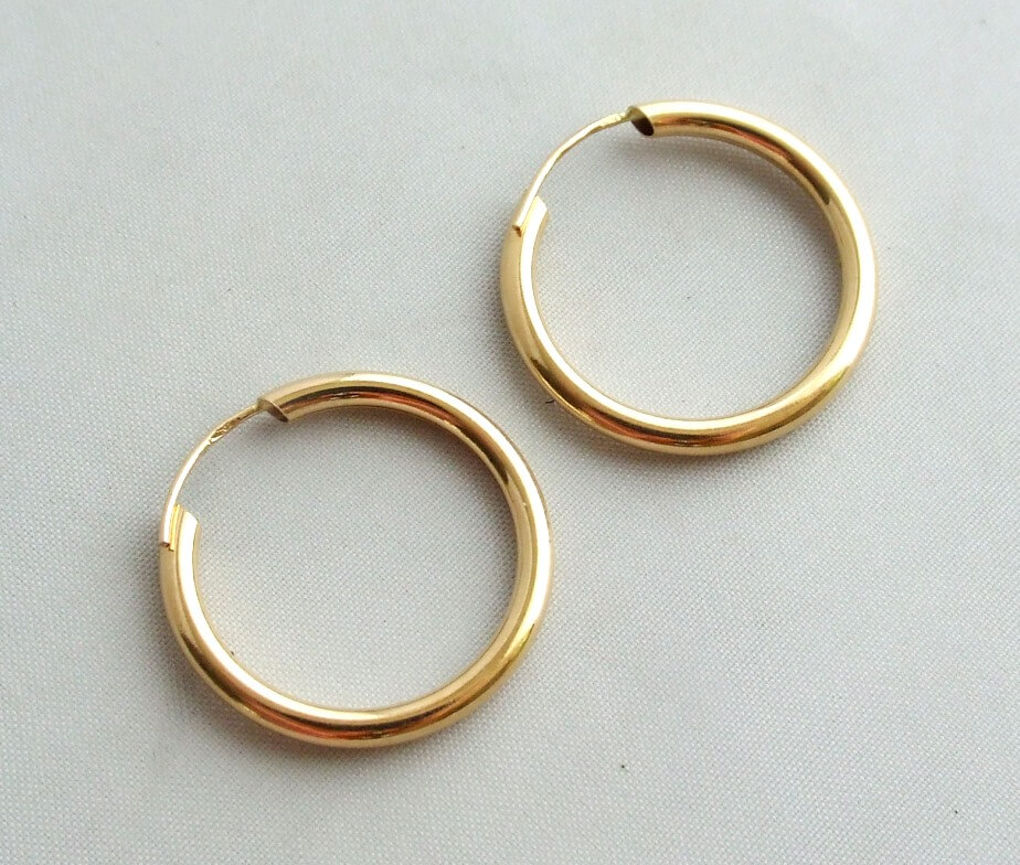 Geel gouden oorbellen occasion