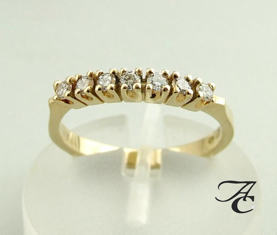 Gouden Atelier Christian ring met diamanten
