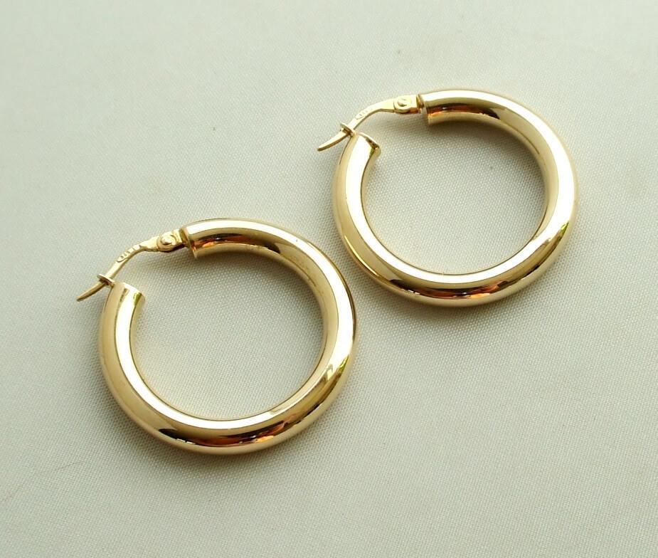 Geel gouden Christian oorbellen