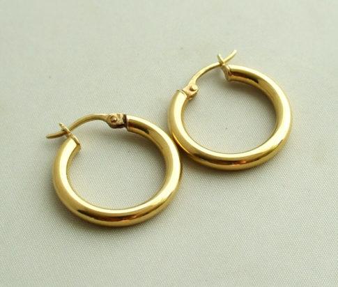Geel gouden occasion oorbellen