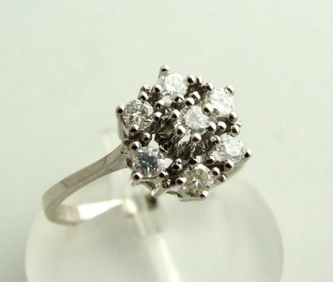Gouden rozet ring met diamant