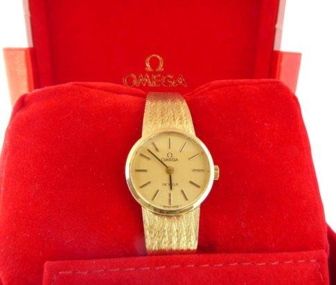 Geel gouden Omega horloge